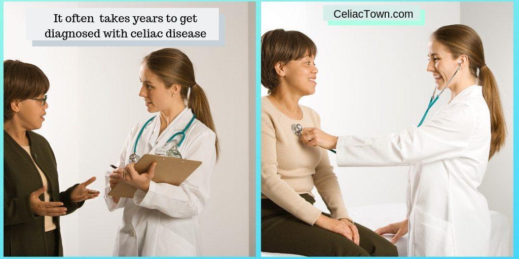 Celiac disease statistics time to diagnosis