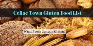 Celiac Town Gluten Food List Graphics