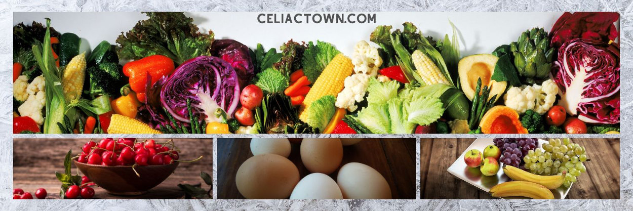 Safe Gluten Free Foods - fresh fruits vegetables and eggs